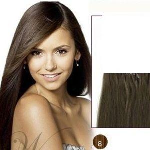 "Accessories - 23"" Straight Hair Extensions #8 Medium Ash Brown"